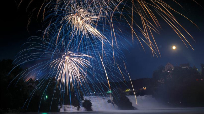 1er août : Fête Nationale Suisse  Rheinfall_1august-1