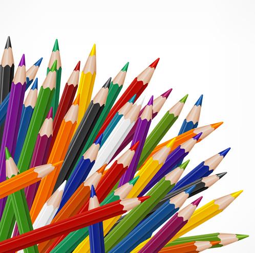 سكرابز اقلام رصاص ملونة بدون تحميل Colored-pencils-vector-background-set-95909