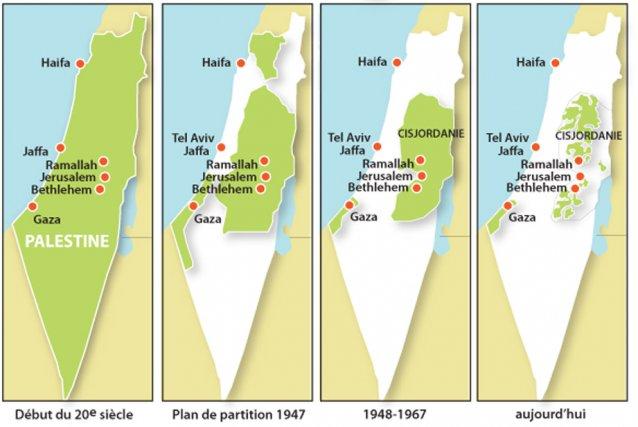 Israël-Gaza : la bataille du jour - Page 11 779140-evolution-palestine