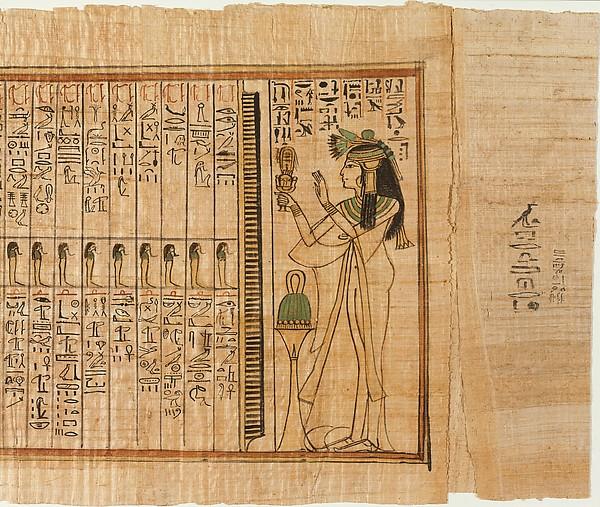 Papiros funerarios .IMAGENES DT11632