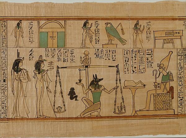 Papiros funerarios .IMAGENES DT11633