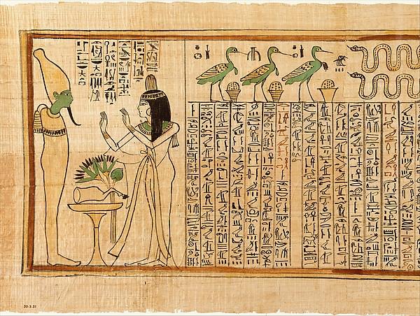 Papiros funerarios .IMAGENES DT551