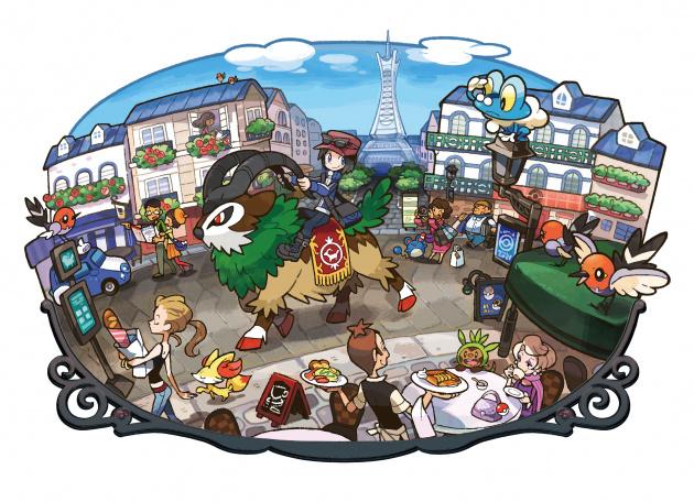 Echanges, combats et interactions sur Pokemon XY 630x