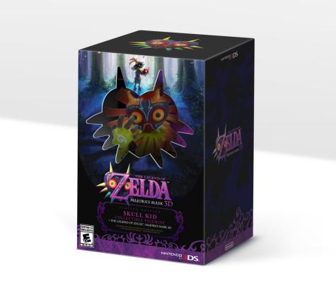 3DS: The Legend of Zelda Majora's Mask 3D Limited Edition Bundle Comes With A Skull Kid Figurine! Original