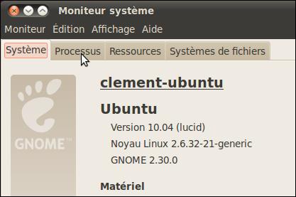 Fermer une application qui ne répond plus - Linux Ubuntu 10.04 2894-3