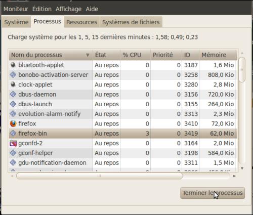 Fermer une application qui ne répond plus - Linux Ubuntu 10.04 2894-4
