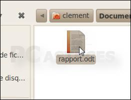 Choisir quoi faire des éléments glissés - Linux Ubuntu 2963-1