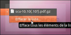 Désactiver les documents récents - Linux Ubuntu 10.10 3013-6