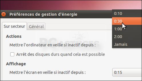 Mettre son ordinateur en veille en cas d'inactivité - Linux Ubuntu 3064-3