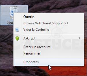 Ne plus passer par la corbeille - Windows 7 3467-1