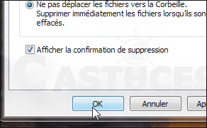 Ne plus passer par la corbeille - Windows 7 3467-3