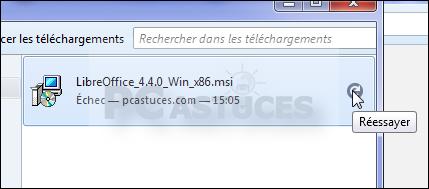 Relancer un téléchargement interrompu avec Firefox 4311-2