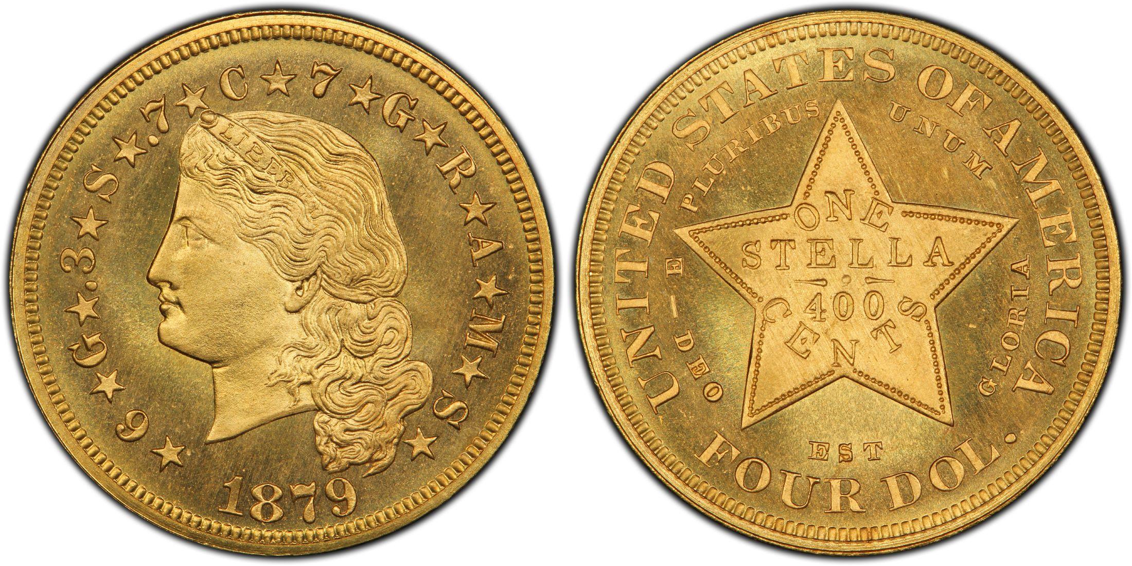 Moneda vendida por $193,875.00 - 1879 $4 Flowing Hair - EEUU 20371296_1612594_2200