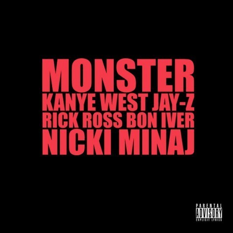 "Colaboración (Single) » ""Monster"" (Kanye West feat. Jay-Z, Rick Ross, Nicki Minaj & Bon Iver) 6b3933002ddb0897801e16ddb052fb56.475x476x1"
