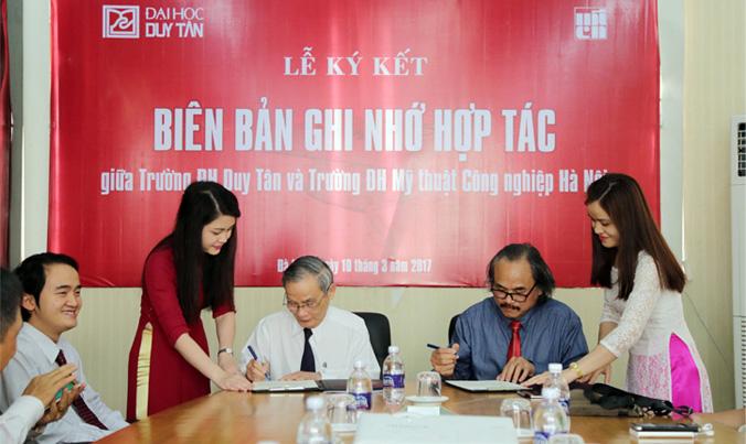ĐH Duy Tân ký kết Hợp tác với ĐH Mỹ thuật Công nghiệp Hà Nội DHDT_kyket1_IGTH