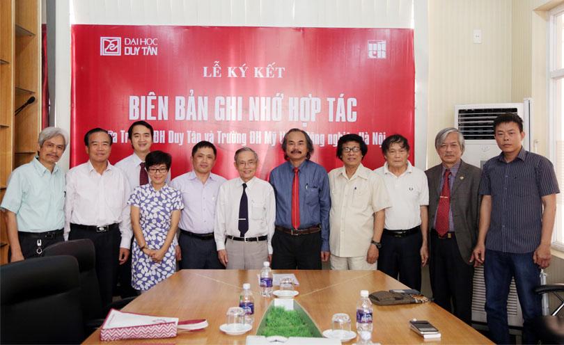 ĐH Duy Tân ký kết Hợp tác với ĐH Mỹ thuật Công nghiệp Hà Nội Dhdt_kyket2_epmq
