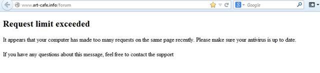 Проблема со входом на форум - Request limit exceeded 8480200_m