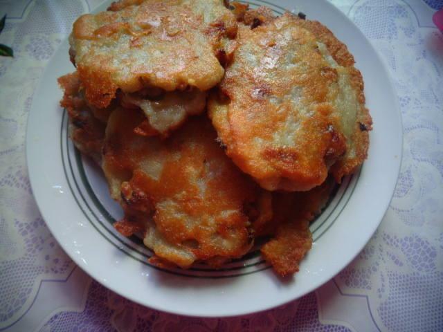 Оладьи картофельные, фаршированные мясом 30752289_m