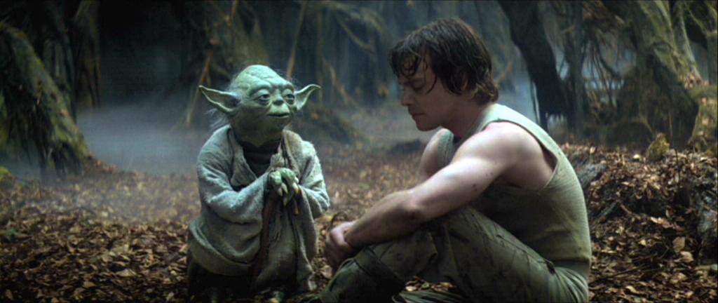 Fuego por fricción a mano (taladro de caña) Yoda_y_Luke