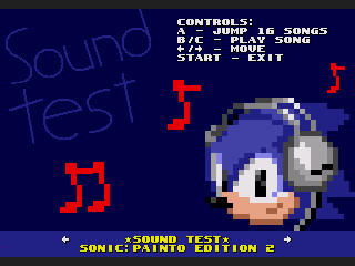 Sonic 1: Painto Edition 2 [3.0 release] Soundtest