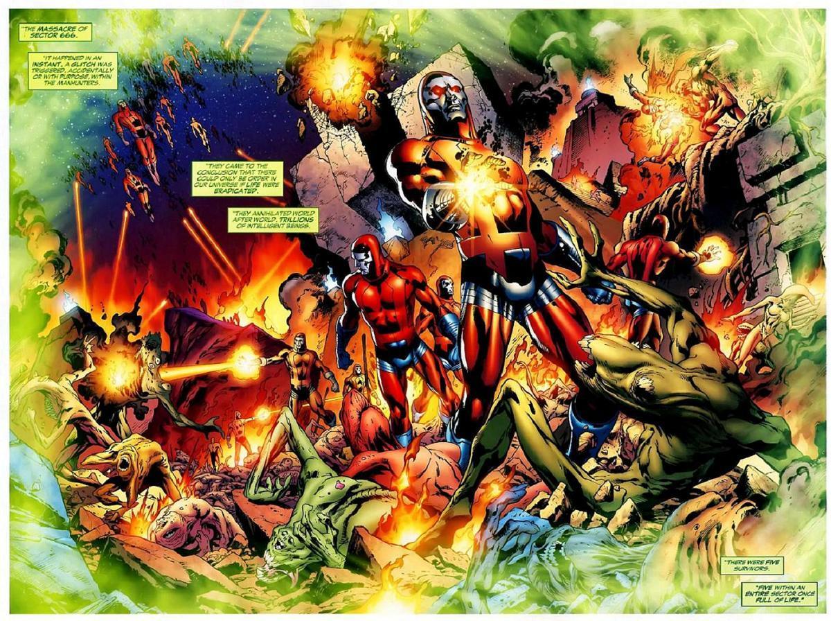 JLA: la Liga de la Justicia en cine - Página 2 Massacre_of_Sector_666