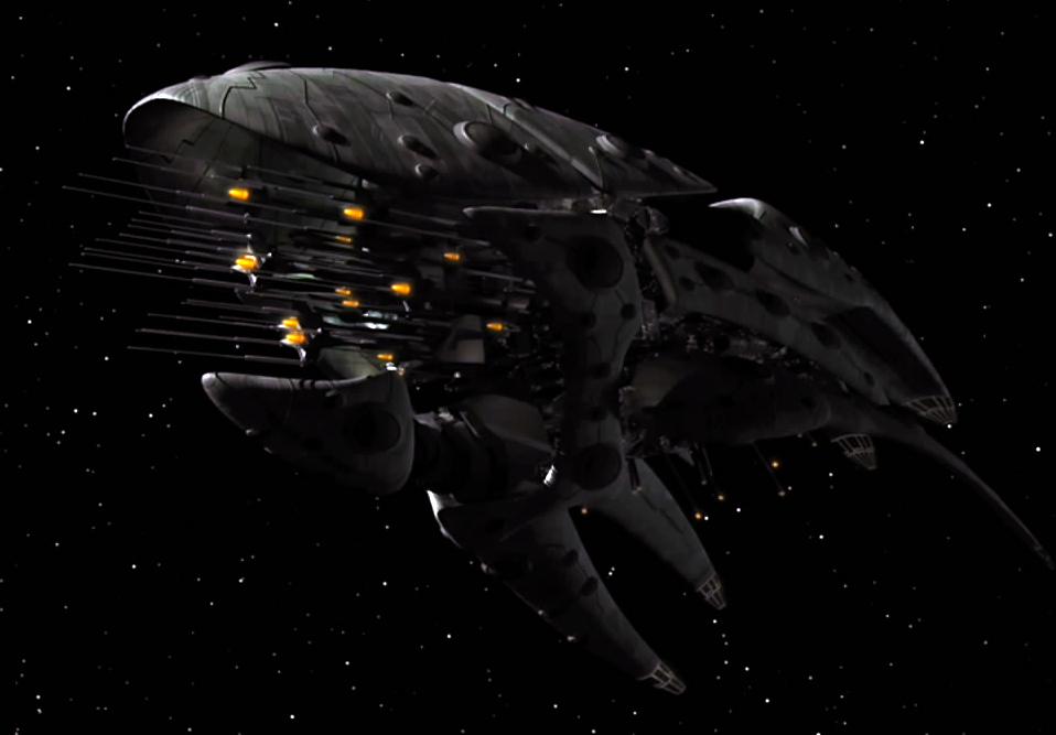 La guerre Empire Romulien - Union Terrienne (22ème siècle) Romulan_drone_ship_%28quarter%29