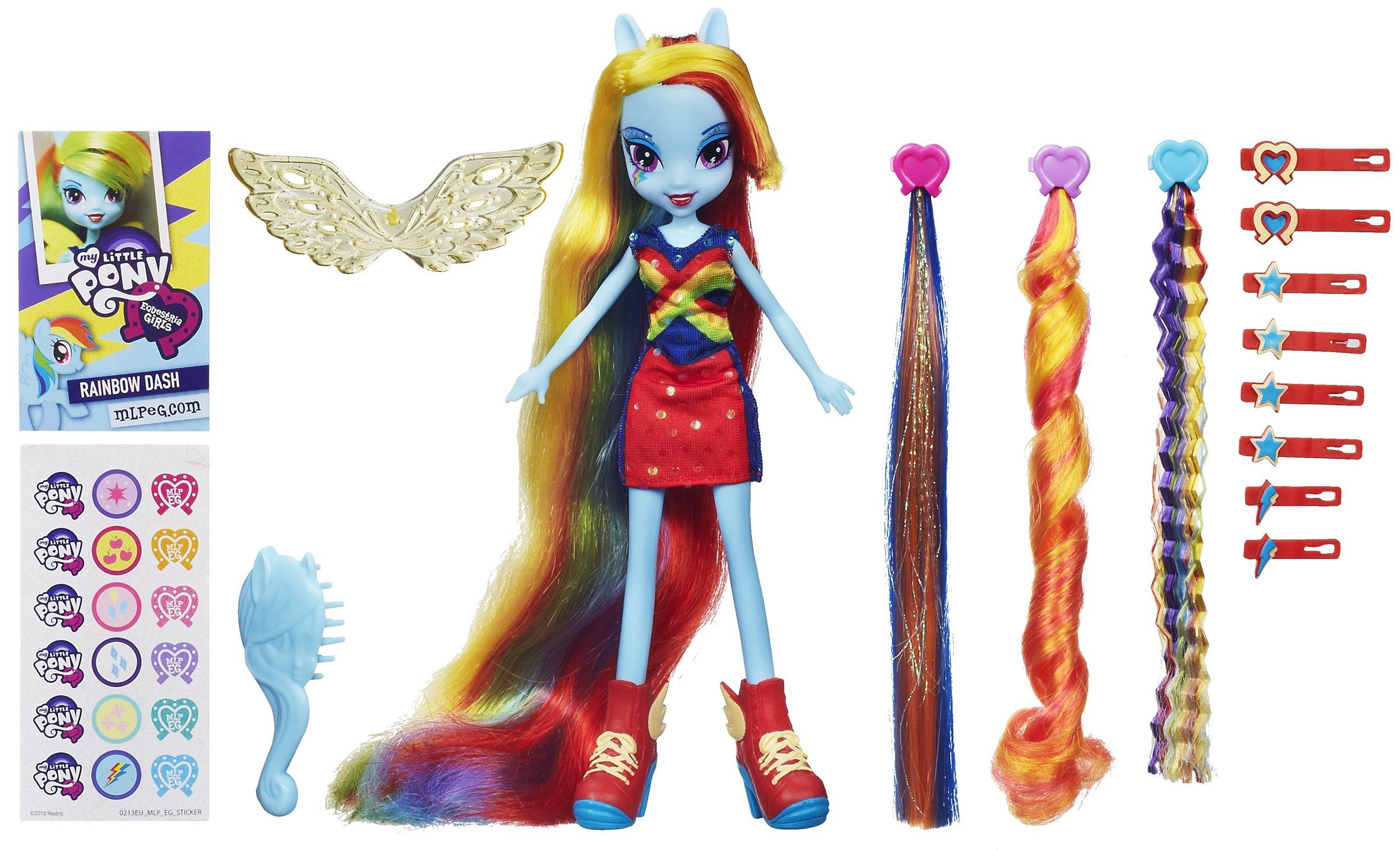 HASBRO Equestria Girls - Mon petit poney devient une fille ! Rainbow_Dash_Equestria_Girls_hairstyling_doll