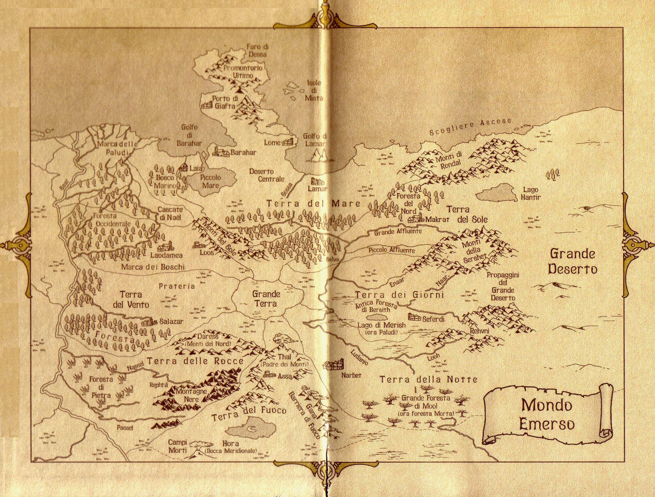 La carte du monde Emergé Mappa