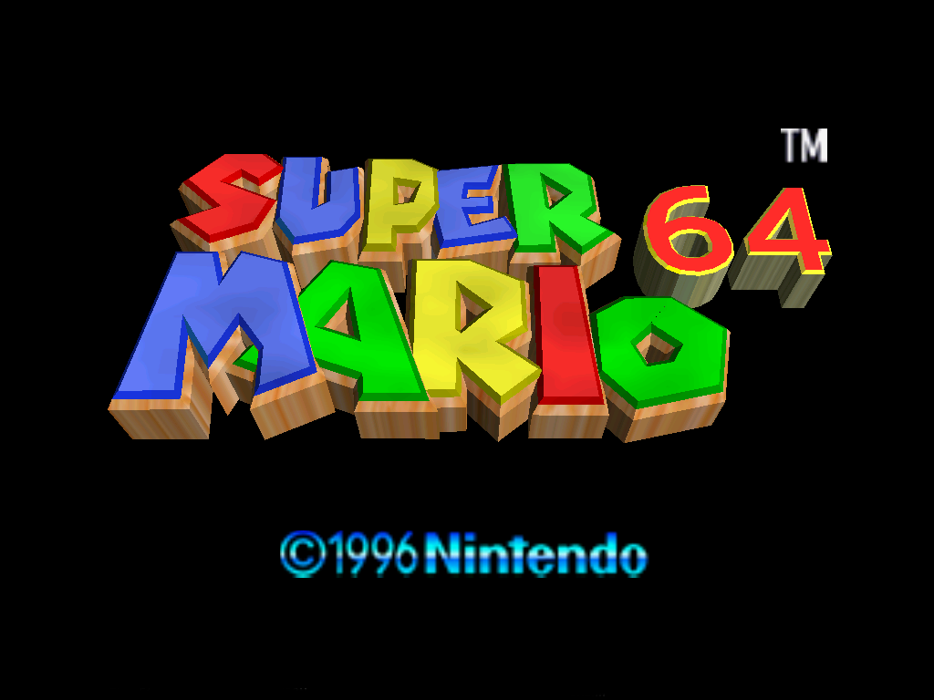 Fonts and the 'feel' of a game Title_Screen_-_Super_Mario_64