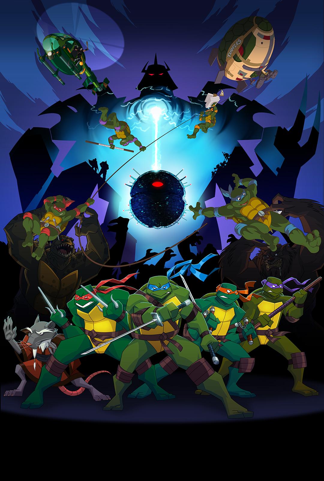 Las Tortugas Ninja vuelven - Página 2 Turtles_Forever_Poster_by_E_Mann