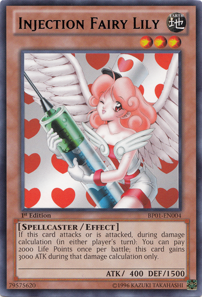 What are your favourite Yu-Gi-Oh Cards? InjectionFairyLily-BP01-EN-R-1E