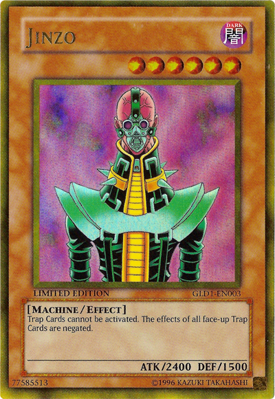 What are your favourite Yu-Gi-Oh Cards? Jinzo-GLD1-EN-GUR-LE