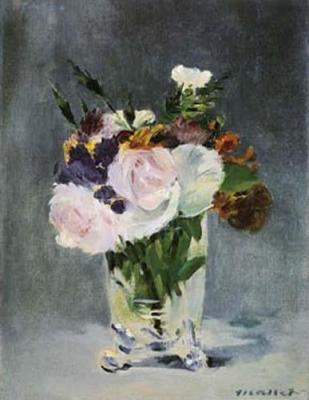 Les FLEURS  dans  L'ART - Page 6 Edouard-Manet-Flowers-in-a-Crystal-Vase-6992