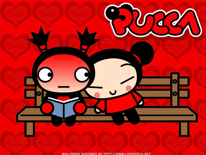 Bastante parecido, yo diría casi igual Pucca-and-Garu-sitting-on-a-bank-pucca-1674118-800-600
