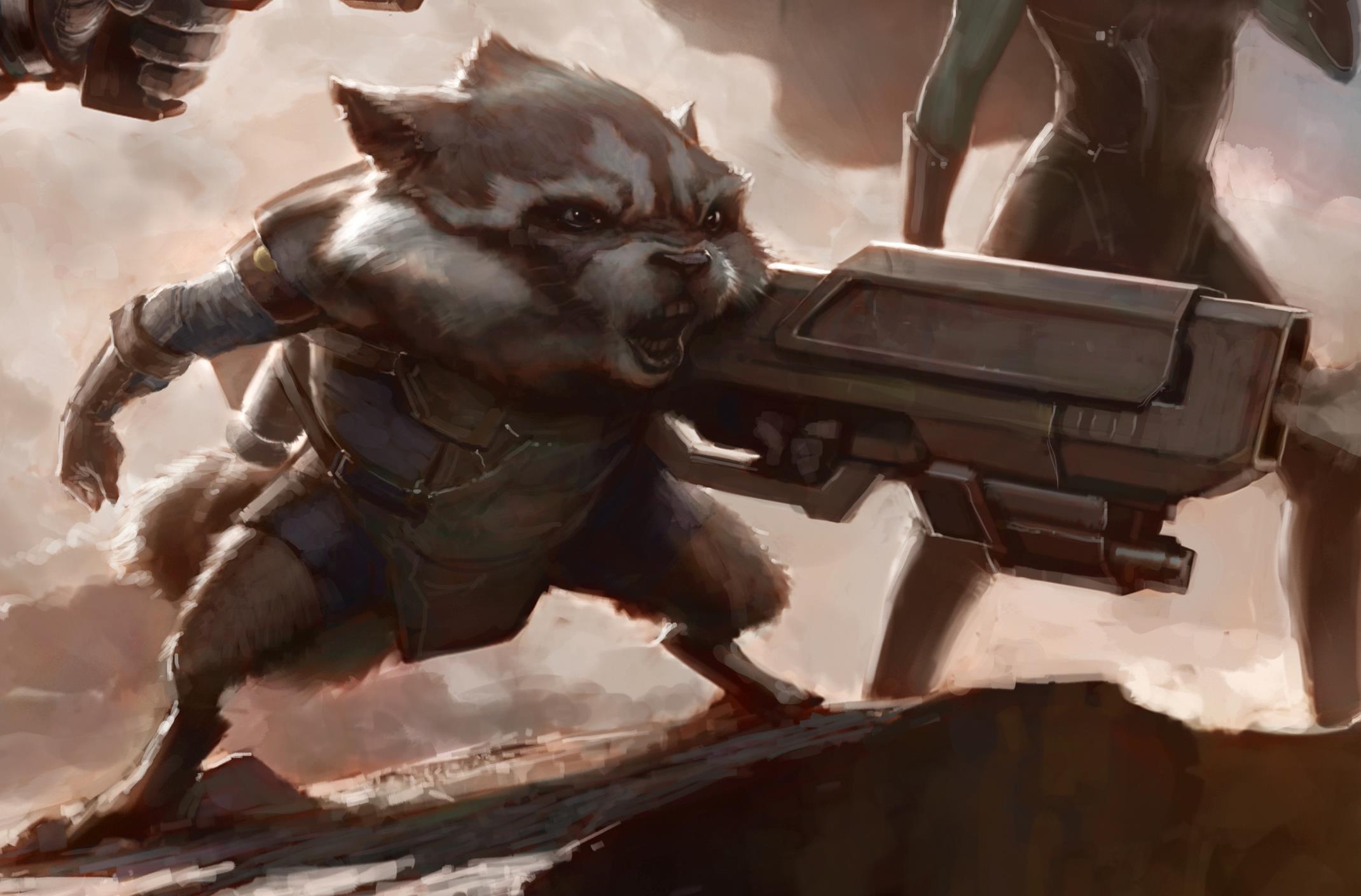 Marvel: Guardians of the Galaxy Rocketrackoonconceptart