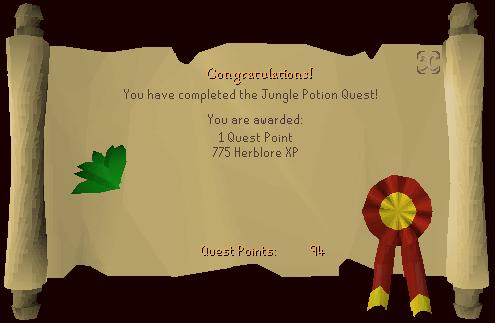 Jungle Potion quest guide Jungle_Potion_reward_scroll