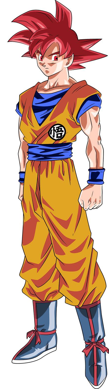 P.O Dragon Ball Goku_SSJ_Dios_Render