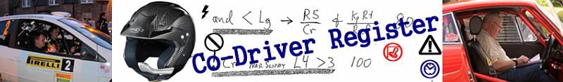 Co-Driver Register