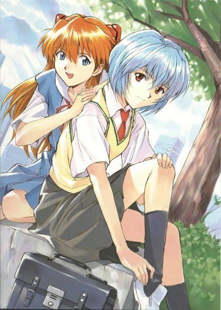 Quali sono le vostre coppie preferite di anime/manga? Rei-and-Asuka-evangelion-9221839-440-619