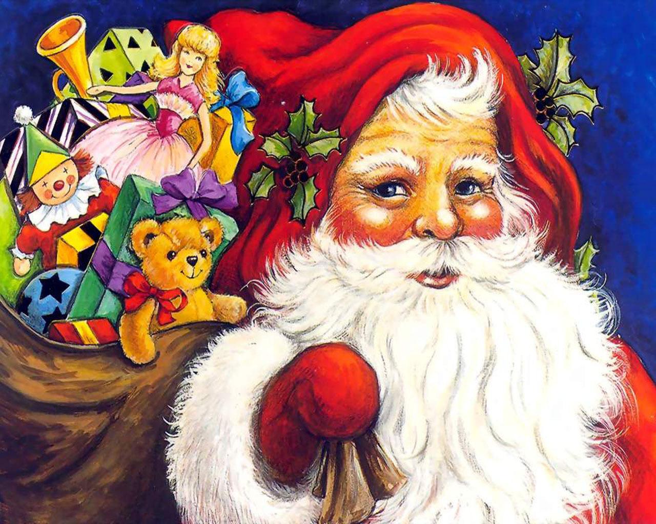 تهنئة بالعام الجديد Santa-Claus-christmas-2736333-1280-1024