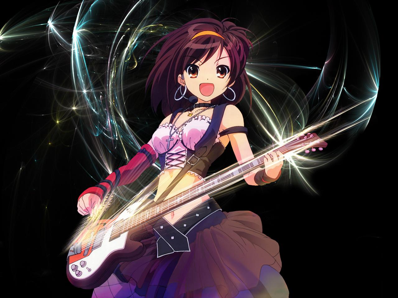 The Melancholy of Haruhi Suzumiya picture Haruhi-Guitar-the-melancholy-of-haruhi-suzumiya-3345788-1280-960