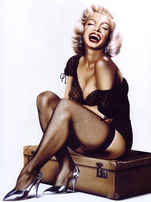 Avatars Jolies Gambettes Diez-does-Marilyn-Monroe-pin-up-girls-5438485-525-700