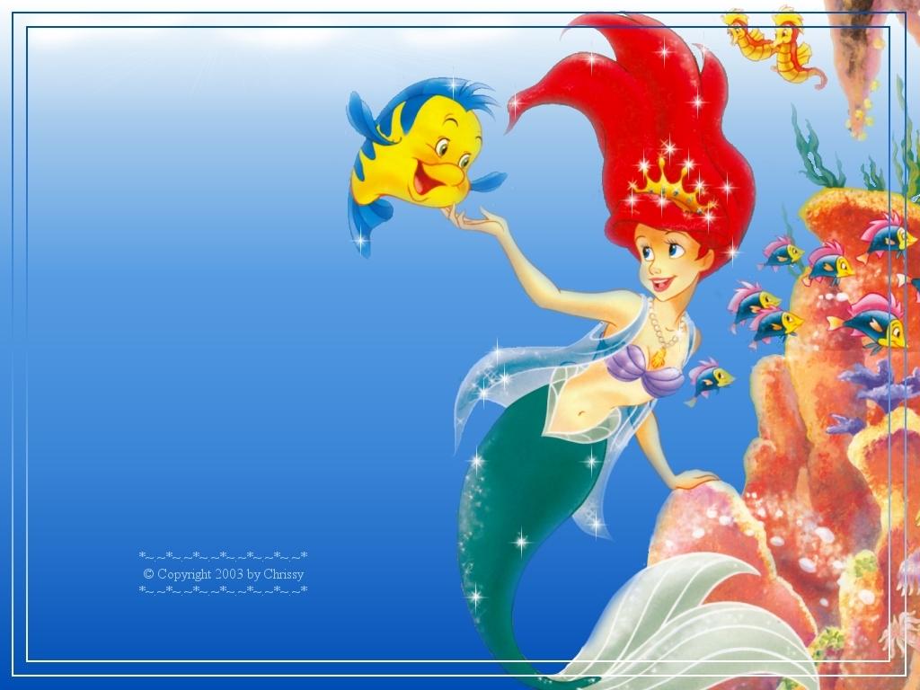 أميرات ديزنى رائعة Ariel-Wallpaper-disney-princess-6243819-1024-768
