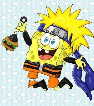 تقرير عن أنمي سبونج بوب  Spongebob-Ninjapants-naruto-6757482-300-338