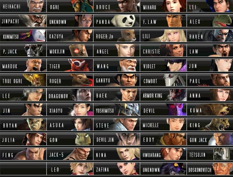TEKKEN Tekken-1-6-Characters-NEW-Roster-tekken-7932101-803-610