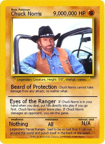 Spam king? Chuck_Norris_Pokemon_card