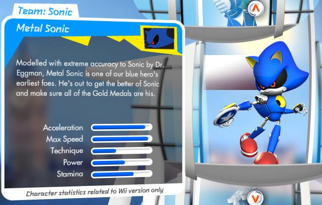 Mario et Sonic aux Jeux Olympiques de Londres 2012 (Wii) Metal_sonic_stats