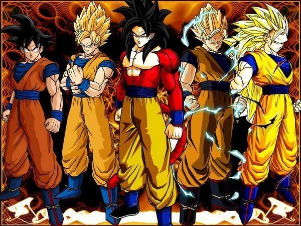 1)The Super Saiyans (DBZ)