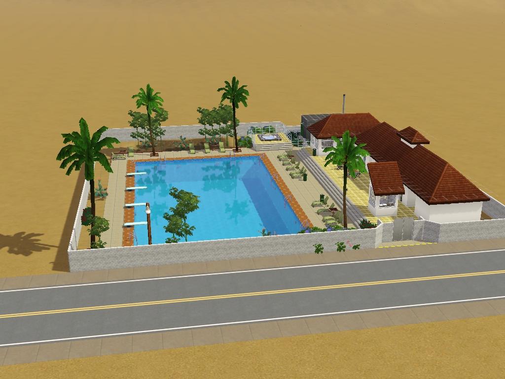 Las Rarezas +Politécnica La Fiesta El_solar_comunitario_con_piscina_de_las_Rarezas_versi%C3%B3n_de_Luis_Simspedia