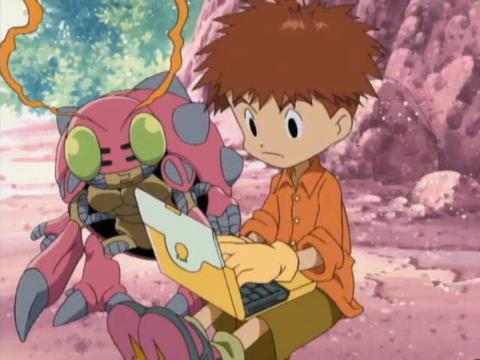 Digimon Izzy_y_Tentomon_2